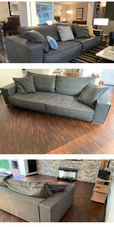 High-end Latest design single Genuine Leather sofa chair with metal farm