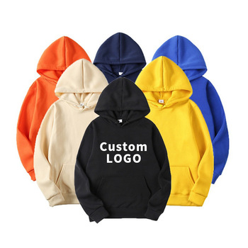Custom logo men plain pullover sweatshirts oversize blank hoodies