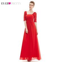 Кружевное Вечернее Платье Ever Pretty EP08038, элегантное платье трапециевидной формы с квадратным воротником и рюшами, вечернее платье(Китай)