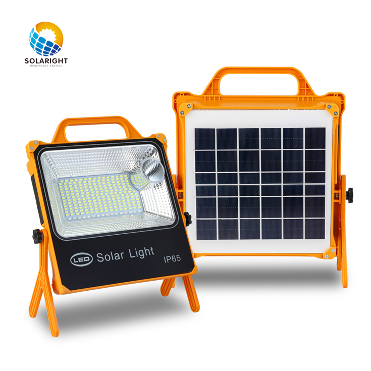 2020 solar flood light 10000mAh waterproof mine outdoor LED portable solar flood light