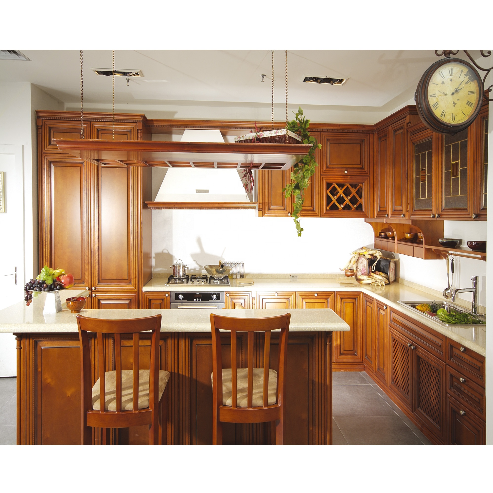 Nicocabinet Japanese Style Classic Brown Solid Wood Small Kitchen ...