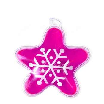 Instant reusable magic heating warming five-pointed star snow shape click heat pack pad hand warmer promotion gift care health