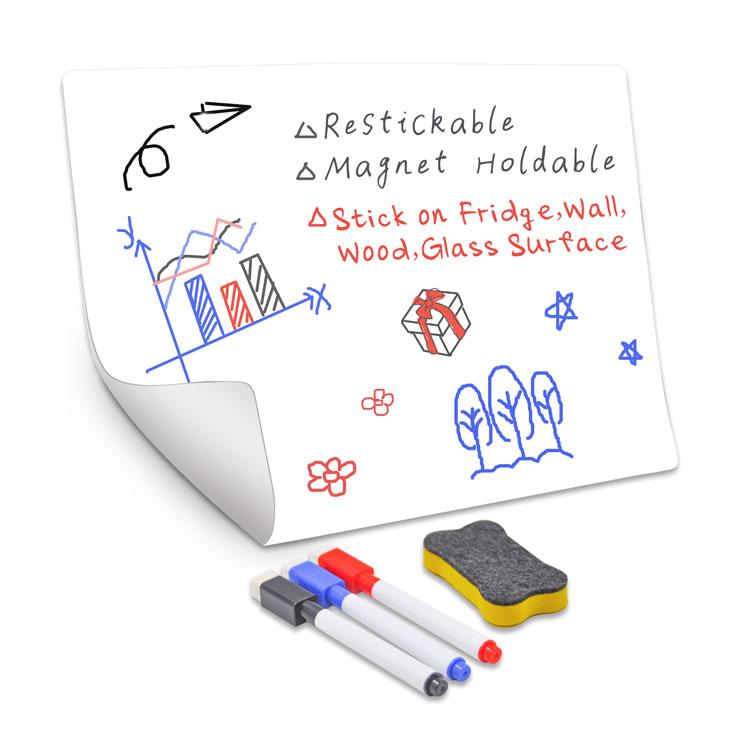 Kids Waterproof Magic White Boards Sheets Dry Erase Sticky Notes Magnetic Reusable Whiteboard Film - Yola WhiteBoard | szyola.net