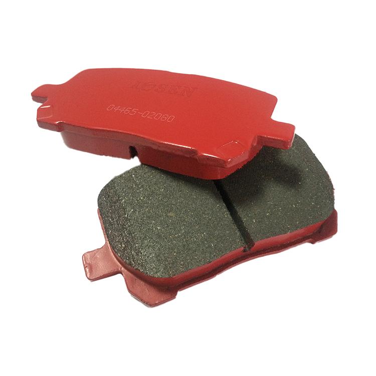 Высококачественная низкометаллическая тормозная колодка 04465-02080 для Toyota