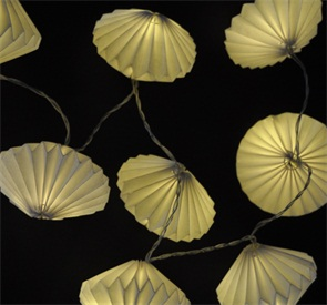Origami mini paper lantern string lighting paper garland 10leds for party decoration