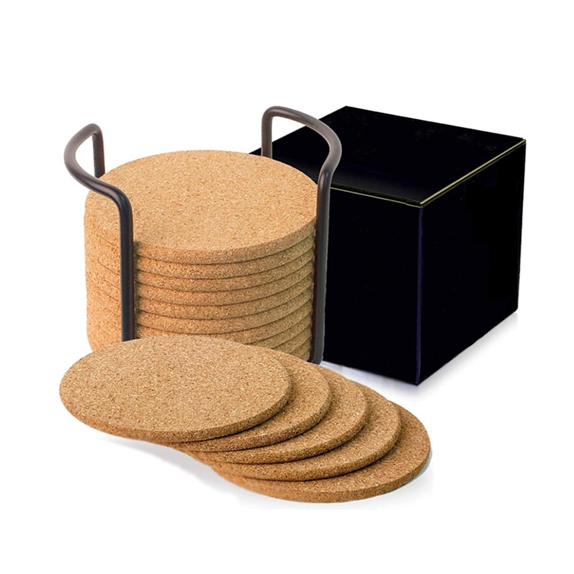 Blank Cork Circle Coasters Set of 12