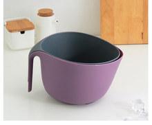 Двухслойный кухонный фильтр для воды закрытый сеткой Слив чаша Фрукты Овощи еда лапша моющий инструмент PP контейнер с гладкой ручкой(Китай)