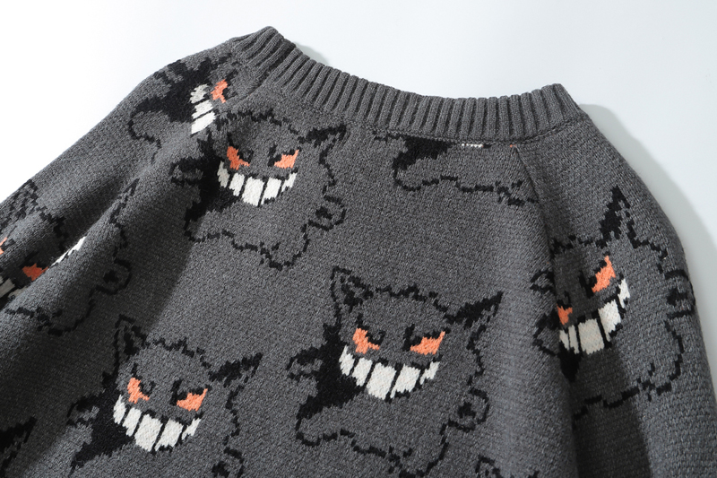 Kingsun 100% cotton knit sweater custom men pullover knitting cotton sweater