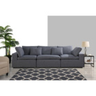 Custom sillones furniture living room modern fabric leather pu canap 20 years furniture factory High quality and cheap sofa