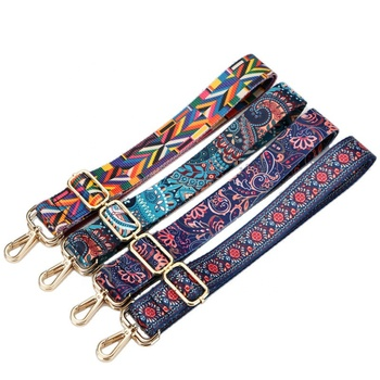 Colorful National Wide Shoulder Bag Strap Adjustable Replacement Belt For Crossbody Bag Purses Handbag