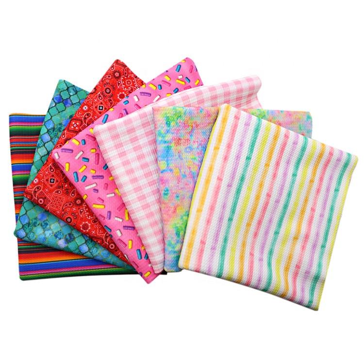 7pcs/set Custom Printing 4 Way Stretch Bullet Liverpool Fabric Bundle For Baby  Headband Sold By Half Yard 1102606