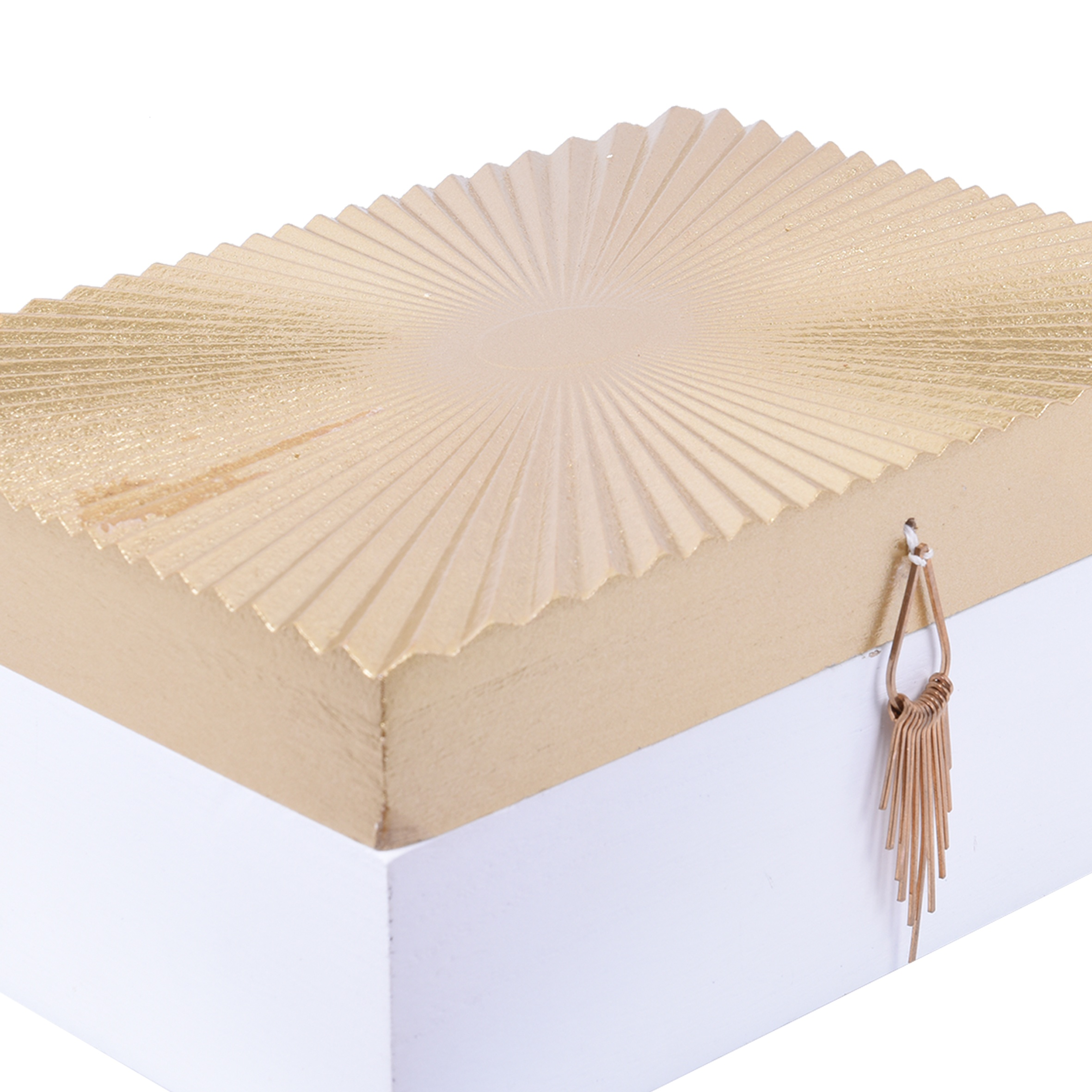 Golden Luxury wooden storage box