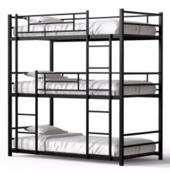 Easy Assembly Cheap Durable Strong Steel Tube Metal Frame Bunk Steel Bed