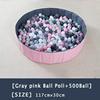 12-Gray Pink Ball Pool+500Ball