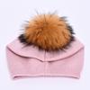 pink with fur pom pom
