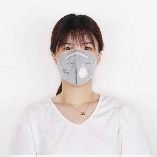 Ear loop mask with valve 5 layers kn95 mask black mask with breathable vale in stock - KingCare | KingCare.net