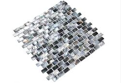 Natural Black Shell Mother of Pearl Shell Mosaic Tile for Bathroom Kitchen Wall