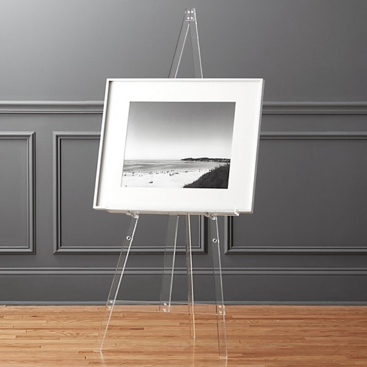 VONVIK Clear Acrylic Plate Display Easel Plexiglass Dish Holder Painting Easel Sketch Easel