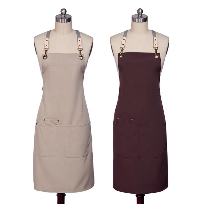 Fashion high quality kitchen apron set barista apron cotton apron