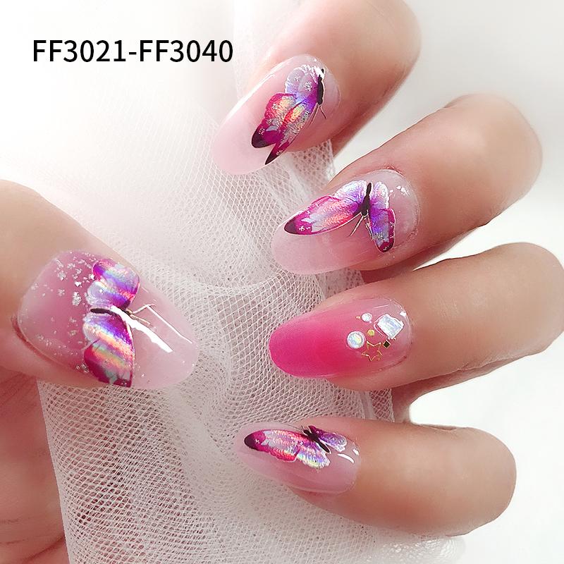 hot sale nail Jel strips beautyfly design nail polish 14 strips for fast nail art wraps