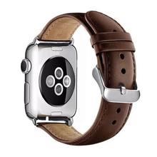 Роскошный ремешок из натуральной кожи для Apple Watch, мужской спортивный ремешок 38 мм, 42 мм, 40 мм, 44 мм, ремешок для iwatch 4, 3, 2, 1, серия 5(Китай)