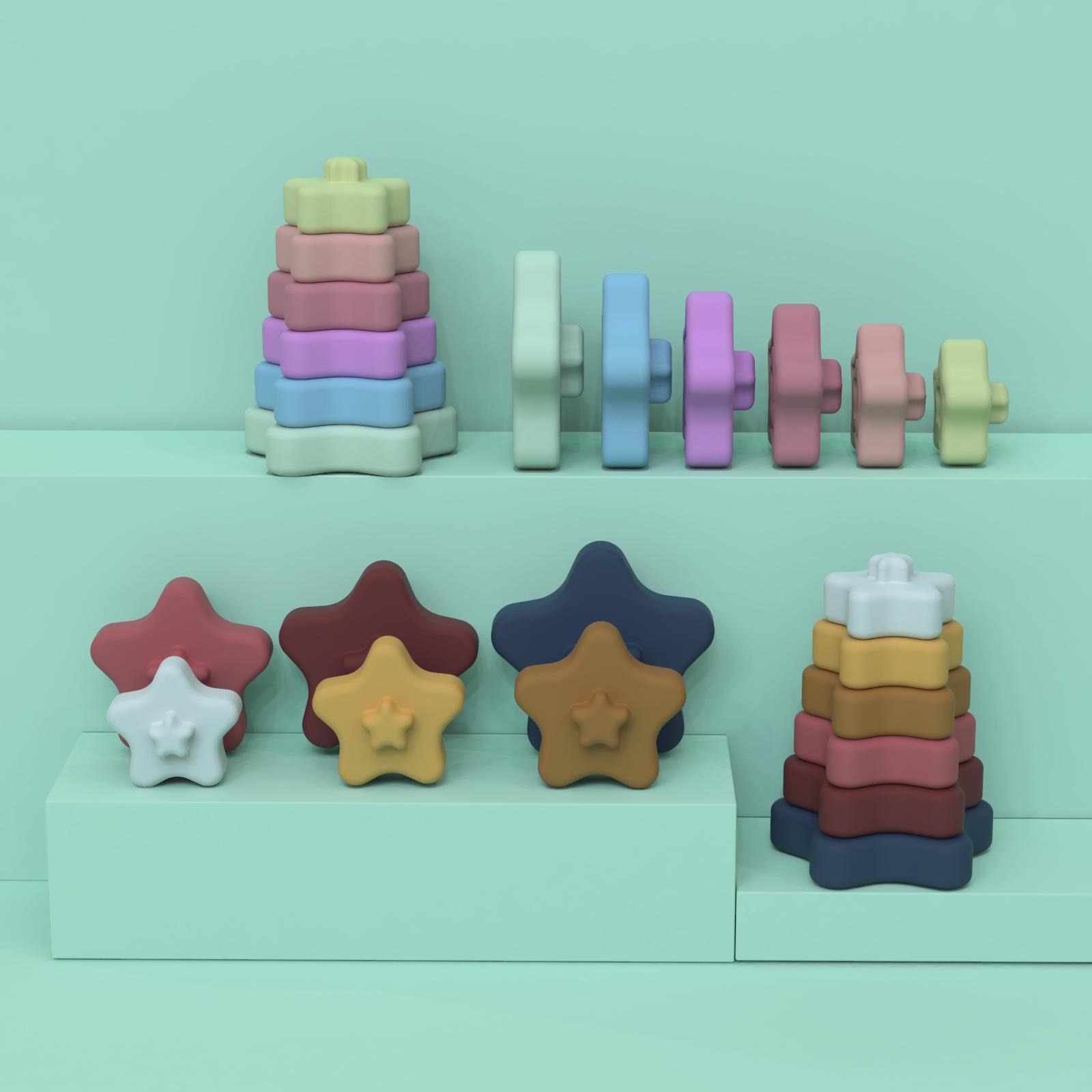 Горячая Распродажа, Новое поступление, одобрено LFGB, оптовая продажа, высококачественные образовательные Силиконовые Прорезыватели для зубов с 6 штуками для детей, малышей
