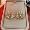 Color 4 Pearl Stud Earrings