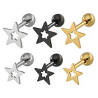 Earrings Earings For Women Five-pointed Star Hypoallergenic Stainless Steel Hoop Earrings Earings For Women 2021