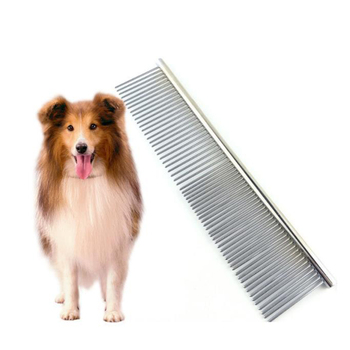 Pet cleaning & grooming products Steel comb stainless steel row comb for dog grooming clean depilation comb for dog
