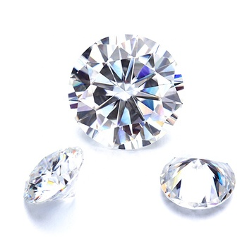 FACTORY WHOLESALE TOP QUALITY STAR CUT ROUND CLEAR WHITE CUBIC ZIRCON LOOSE GEMS SYNTHETIC CZ GEMS