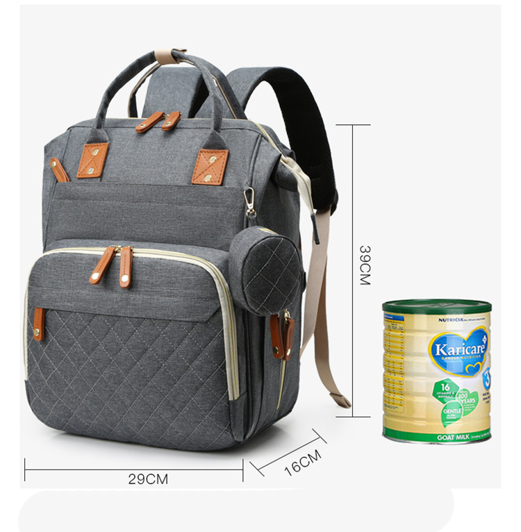 Foldable Convenient Baby Diaper Changing Pad Waterproof Durable Easy-Carry Pad Backpack Women Cart Hanging Bag Diaper Bags