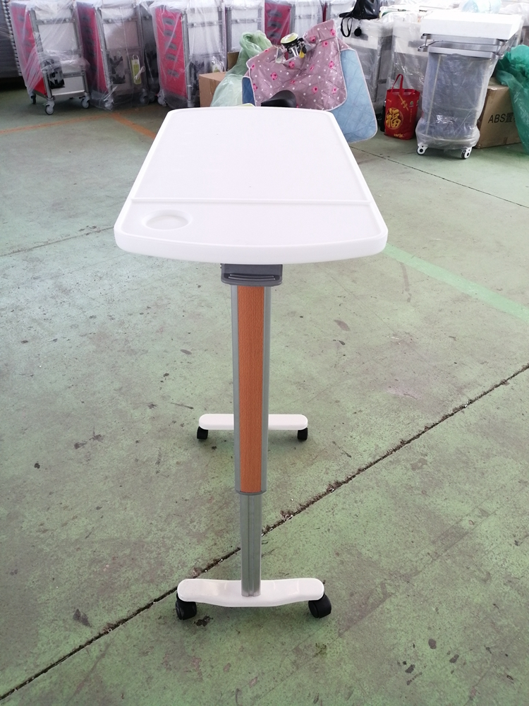 ABS Adjustable Over Bed Table for Hospital