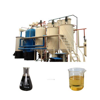 High profit used motor oil to diesel fuel recycling machinery plant and price used transformer oil filter machine