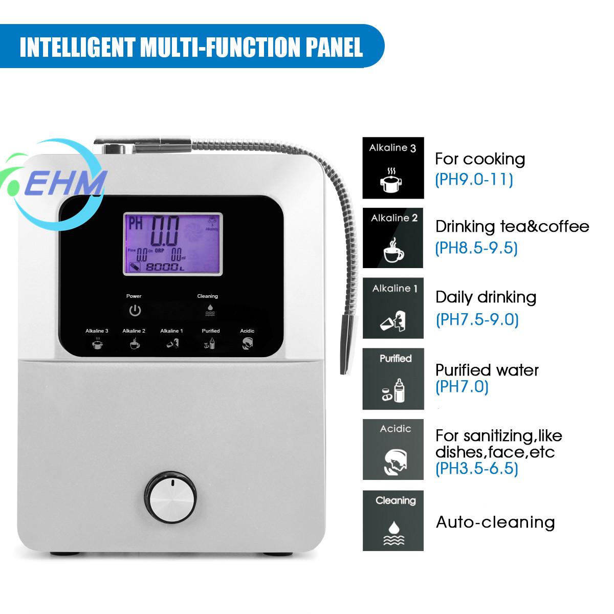 Щелочной ионизатор воды, 11 пластин, сенсорная панель управления, генератор водородной воды, OEM, горячая Распродажа, ионизатор воды, очиститель