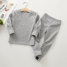 Детская Мягкая пижама с длинным рукавом, комплект из 2 предметов для мальчиков и девочек, Осень-зима 2019(Китай)