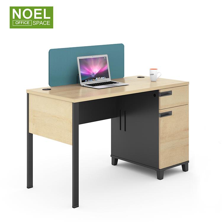 2021 самый популярный ламинированный простой домашний компьютерный офисный стол с металлическими рамами