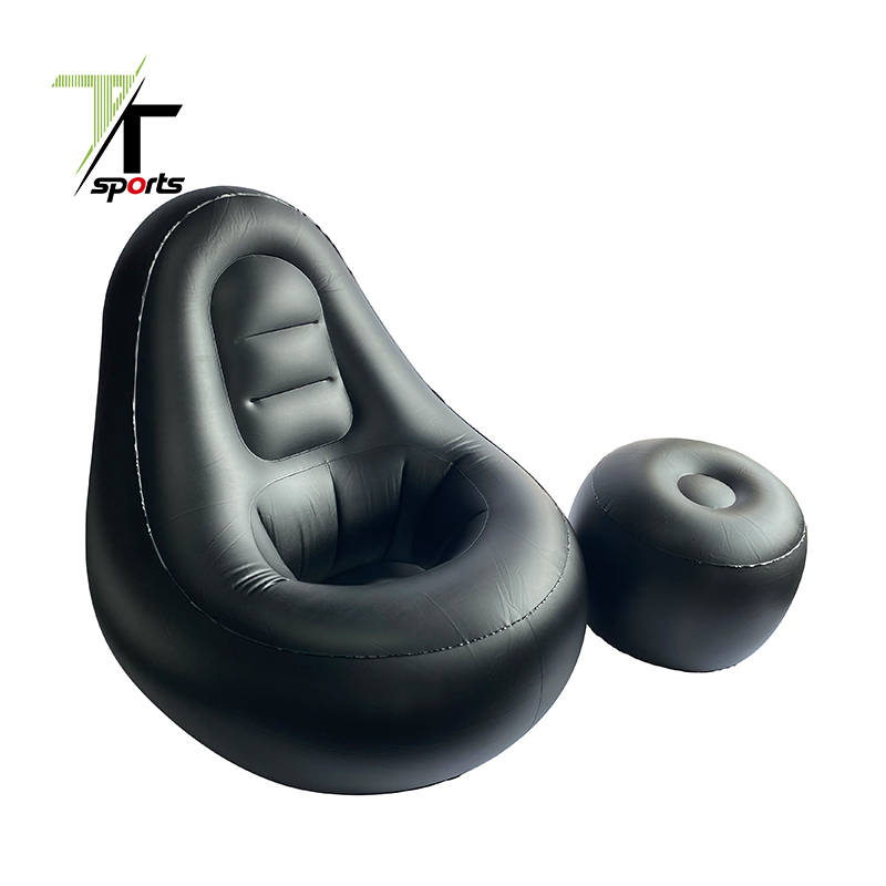 TTSPORTS Blow Up Chaise Lounge Air Lazy Sofa Set BBL Bed Mattress Inflatable Leisure Sofa Chair and Footstool