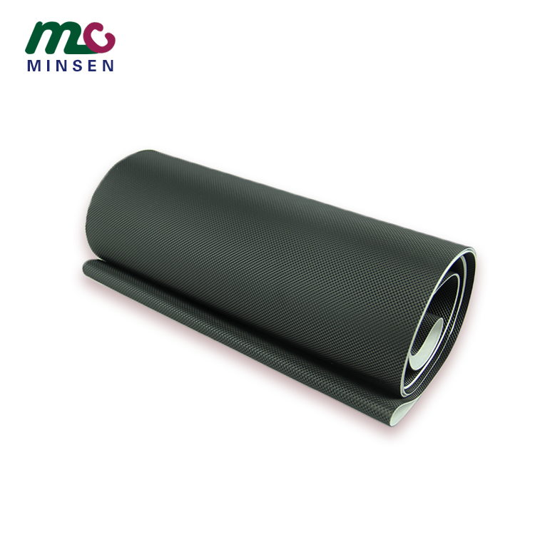 Hot sale high quality black wear resistant diamond pattern pvc treadmill conveyor belt manufacturer