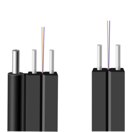 low Price Duplex Outdoor FTTH Fiber Optical Drop Cable 2 Cores - idealCable | idealCable.net