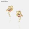 Gold plated earrings-4
