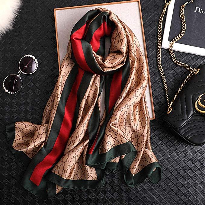 Роскошный Новый дизайн 100% шелковые шарфы женский шелковый шарф для женщин