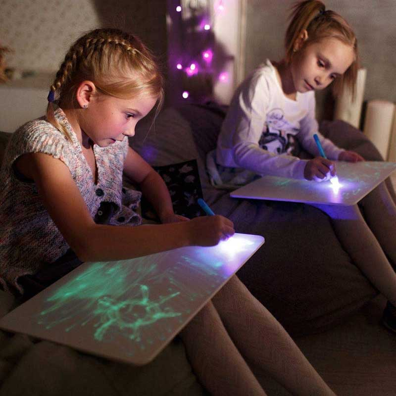 JSK-FA3 люминесцентные светящиеся доска для рисования led Светящиеся в темноте весело Graffit Рисунок игрушка волшебный коврик Детская чертежная доска A3