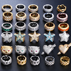 Miss jewelry wholesale new stainless steel hip hop iced out gold plated mens diamond ring