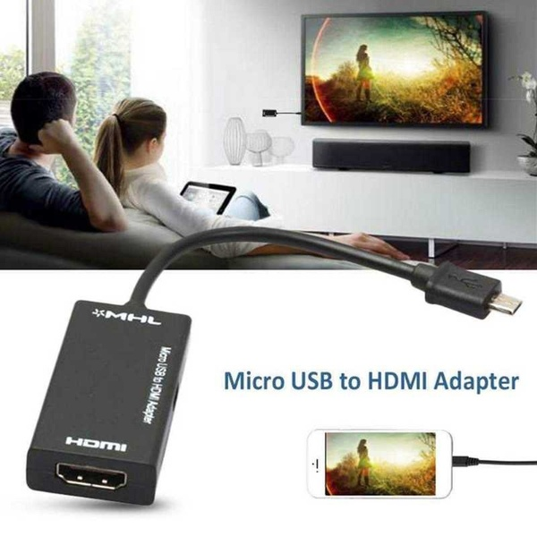 2019 New 5 pin micro USB male Micro USB To HDMI HD Cable Converter Adapter Support 4K*2K 3D for PC HDTV Projector