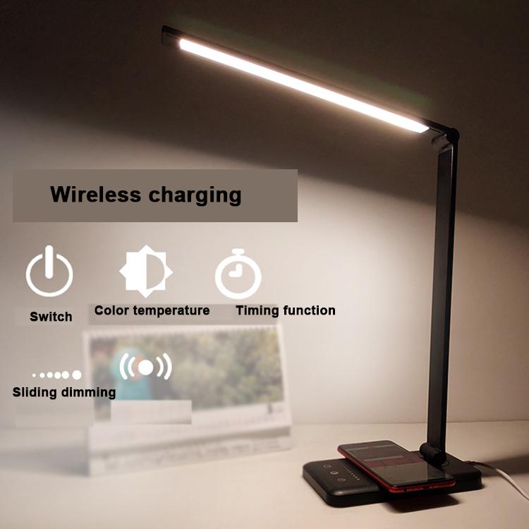 YJN5408 беспроводной 5 позиционный переключатель 5 уровень освещенности цвет синхронизации USB кабель из алюминиевого сплава складной сенсорный исследовательская настольная лампа