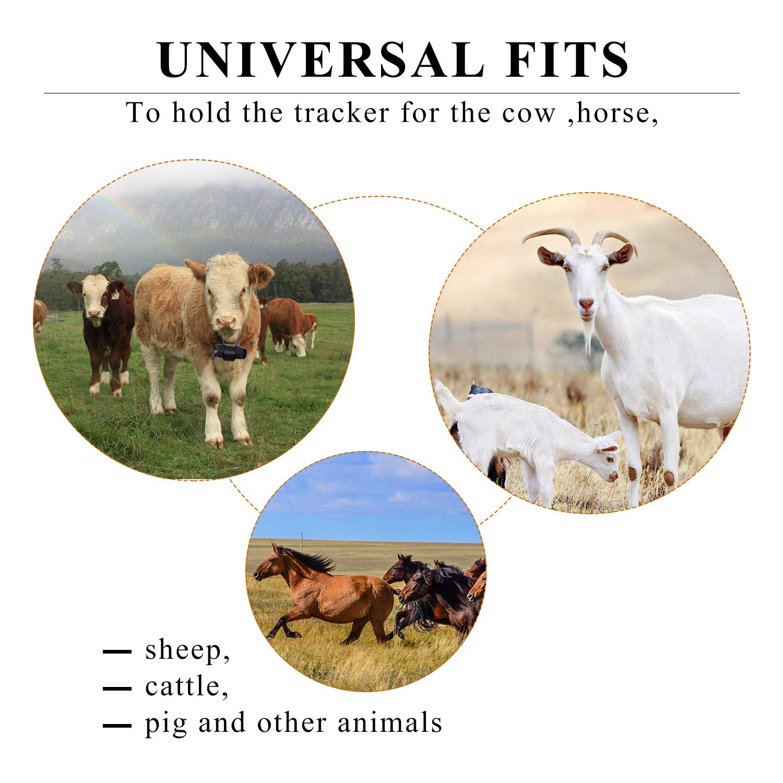 Ошейник для домашних животных с GPS-трекером для коров, больших собак, лошадей, свиней, водонепроницаемая сумка