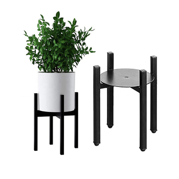 Black Adjustable Modern Iron Plant Stand Indoor Black Metal Plant Stand Fits Medium Large Pots Sizes Home Flower Pot Stands