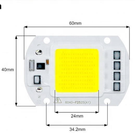 LED Chip 20W 30W 50W COB Chip LED Lamp 220V 110V No Need Driver  for Flood Light Spotlight grow light DIY Lighting