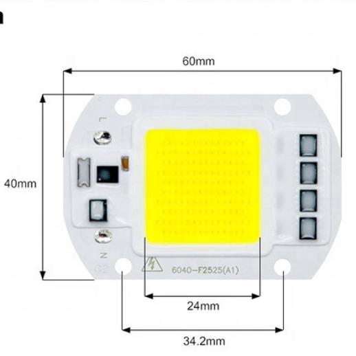 LED Chip 20W 30W 50W COB Chip LED Lamp 220V 110V No Need Driver  for Flood Light Spotlight grow light DIY Lighting