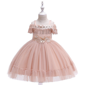 KLA5048 Summer Latest Design Children Clothes New Wedding Party Baby Girls Dresses Beautiful Festive Frock